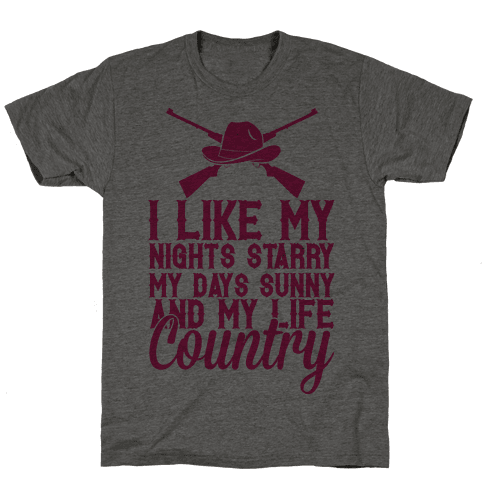 I Like My Life Country Mens T-Shirt