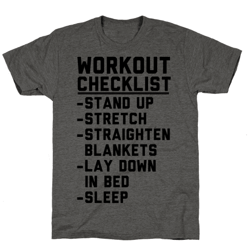 Workout Checklist