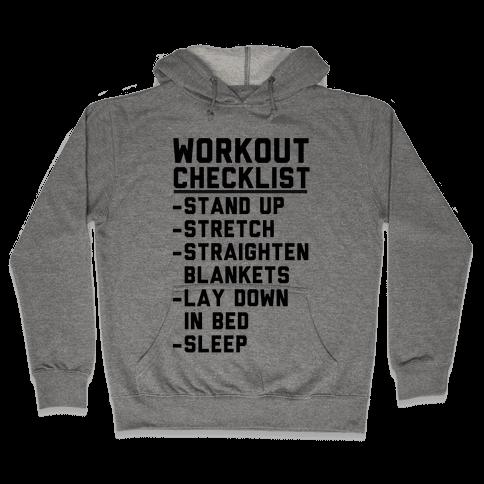 Workout Checklist Hooded Sweatshirt