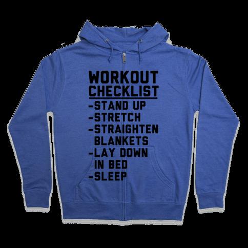 Workout Checklist Zip Hoodie