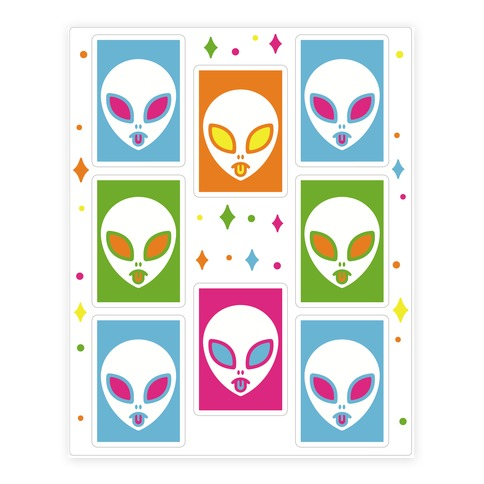 Pop Art Alien  Sticker/Decal Sheet