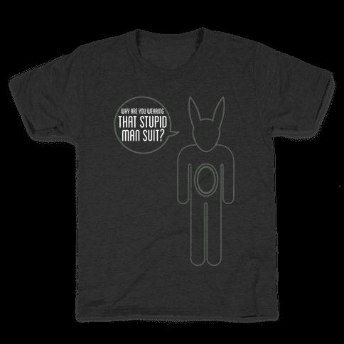 Stupid Man Suit Kids T-Shirt