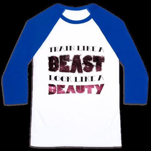 Beast & Beauty (color) Baseball Tee