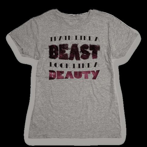 Beast & Beauty (color) Womens T-Shirt