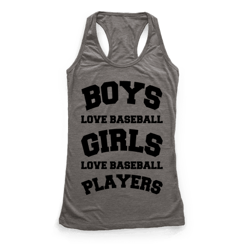 Boys and Girls Love Baseball Racerback Tank Top