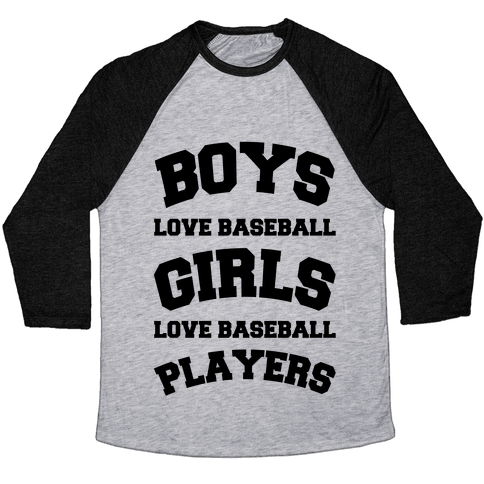 Boys and Girls Love Baseball Baseball Tee