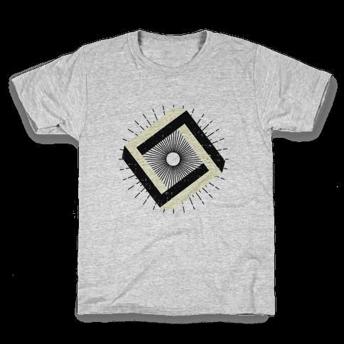 3D Geometric Square Kids T-Shirt