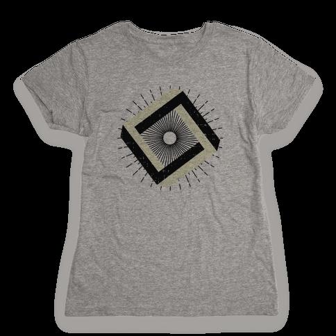 3D Geometric Square Womens T-Shirt