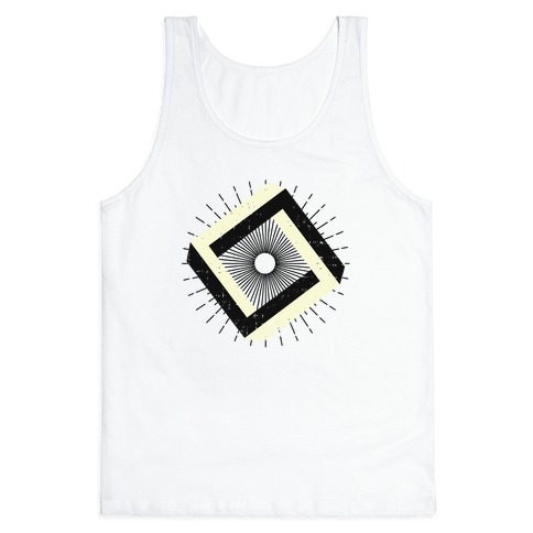 3D Geometric Square Tank Top
