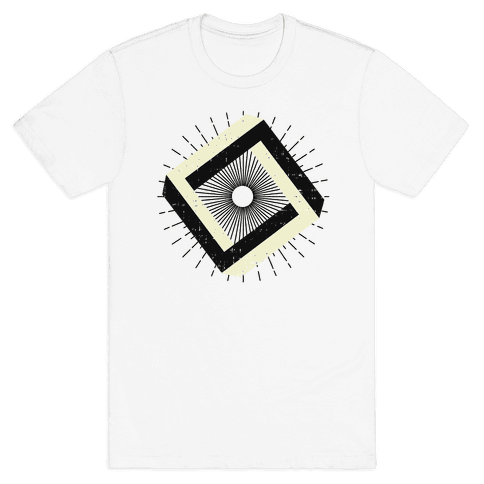 3D Geometric Square Mens T-Shirt