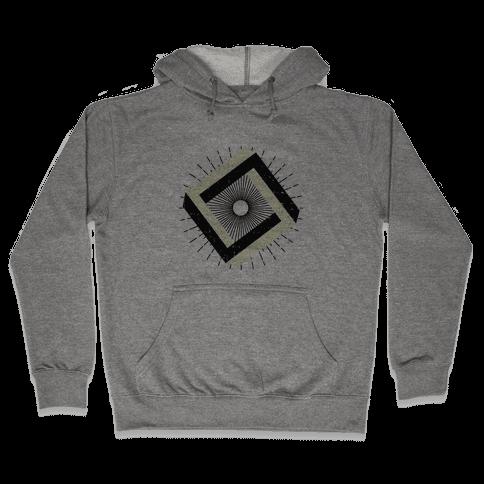 3D Geometric Square Hooded Sweatshirt