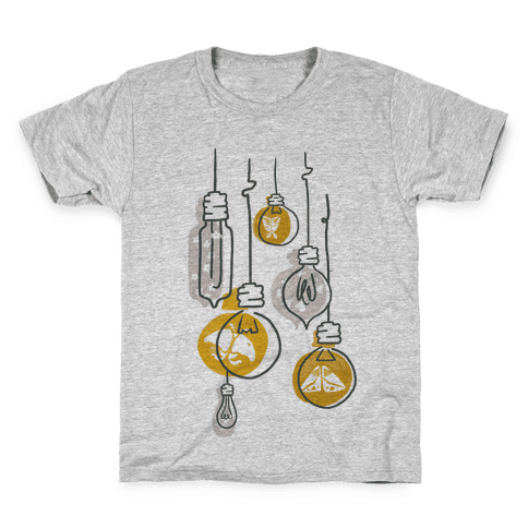 Moth And Wallflower Indie Lights Kids T-Shirt