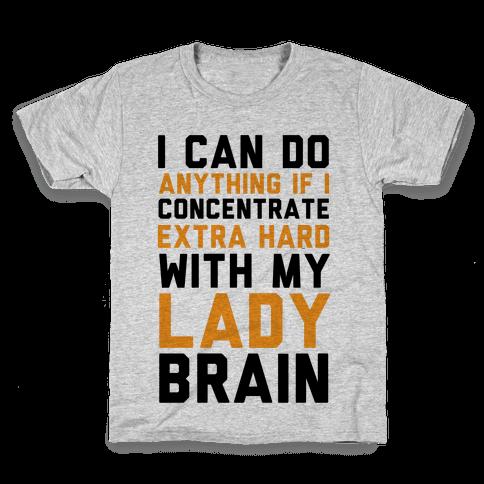 Lady Brain Kids T-Shirt