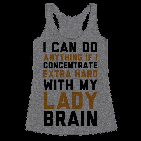 Lady Brain Racerback Tank Top
