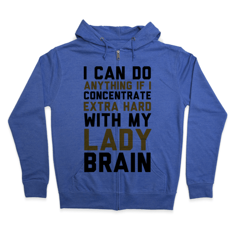 Lady Brain Zip Hoodie