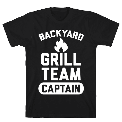 Backyard Grill Team Captain Mens T-Shirt