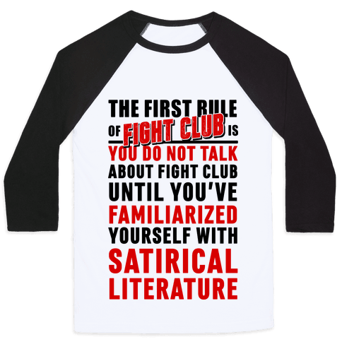 First Rule of Fight Club Satirical Literature