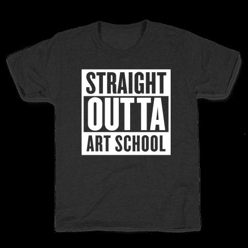Straight Outta Art School Kids T-Shirt