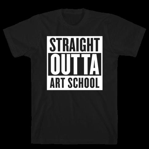 Straight Outta Art School Mens T-Shirt