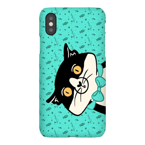 Peeking Bow Tie Cat Phone Case