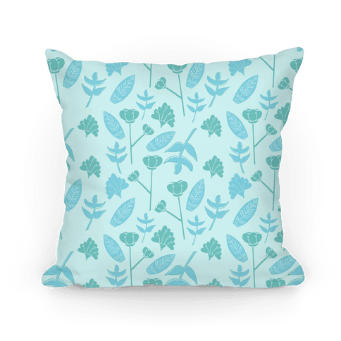 Floral Pattern (Teal) Pillow