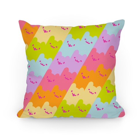 Pastel Rainbow Cats Pillow