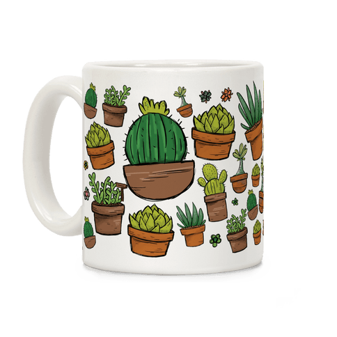 Succulent Pattern Coffee Mug