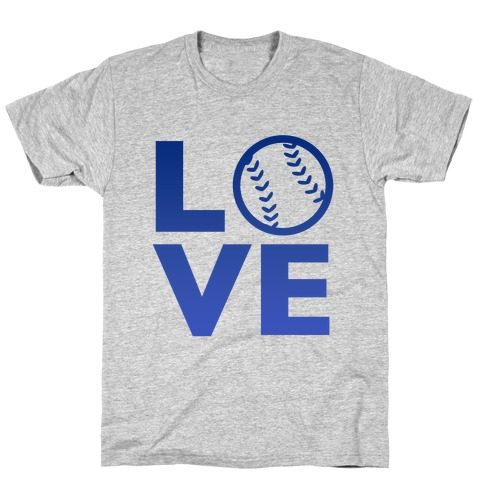Love Baseball (Blue) T-Shirt