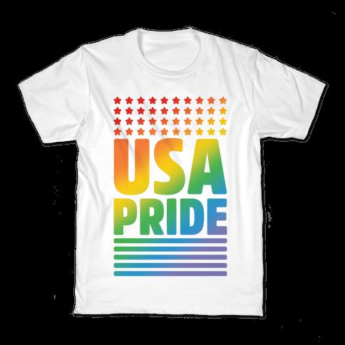 USA Gay Pride Kids T-Shirt