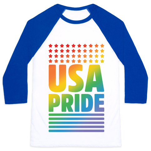 USA Gay Pride Baseball Tee
