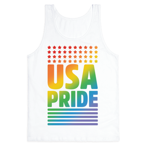 USA Gay Pride Tank Top
