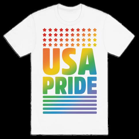 USA Gay Pride Mens T-Shirt