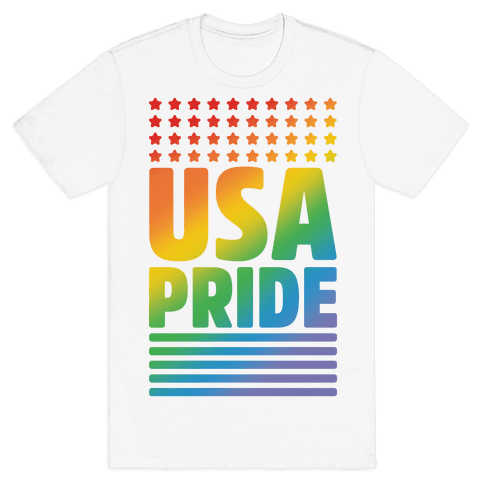 USA Gay Pride Mens T-Shirt