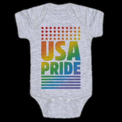 USA Gay Pride Baby Onesy