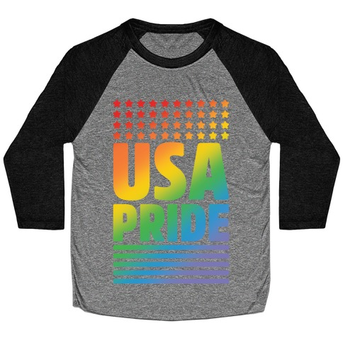 USA Gay Pride Baseball Tee