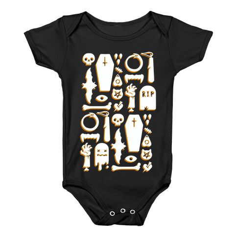Simple Halloween Pattern Baby Onesy