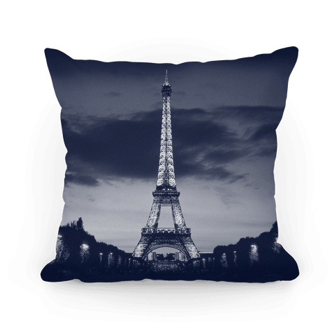 Eiffel Tower Pillow (Navy) Pillow