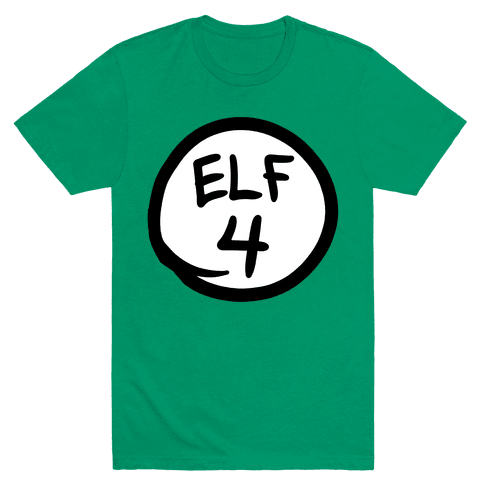Elf Four Mens T-Shirt