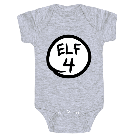 Elf Four Baby Onesy