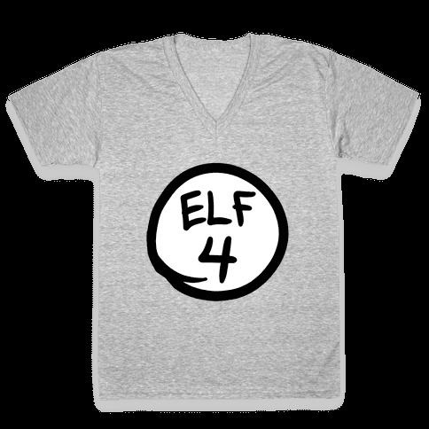Elf Four V-Neck Tee Shirt