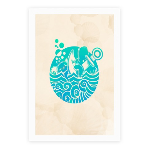 Aqua Friends, Octopus & Whale Poster