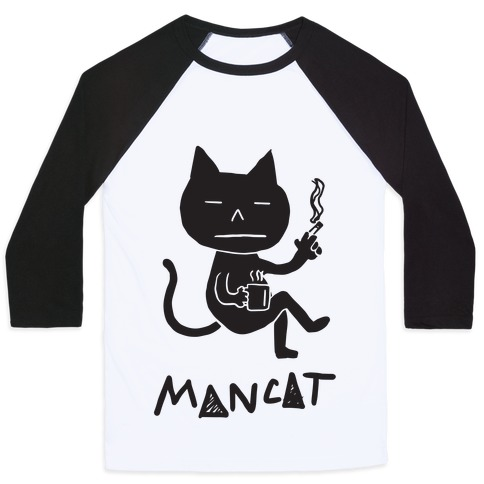MAN CAT Baseball Tee