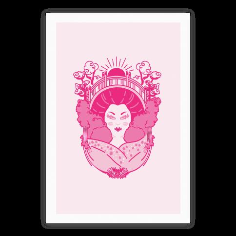 Geisha Garden Poster