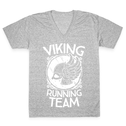 Viking Running Team V-Neck Tee Shirt