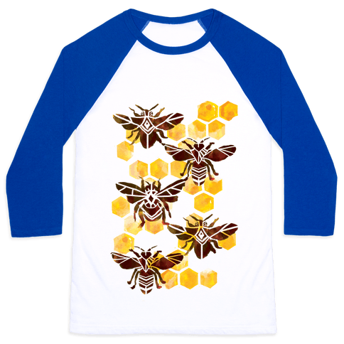 Bee Kingdom Baseball Tee