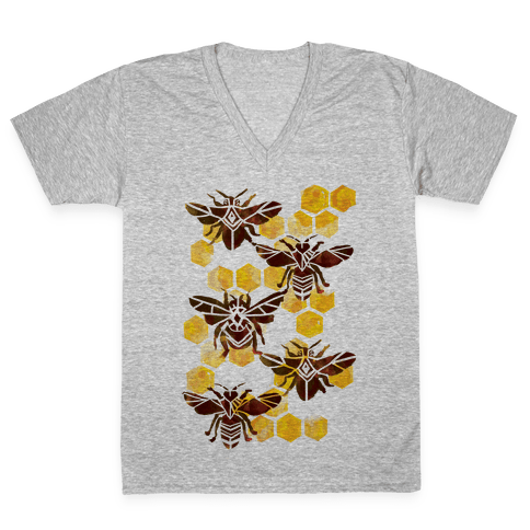 Bee Kingdom V-Neck Tee Shirt