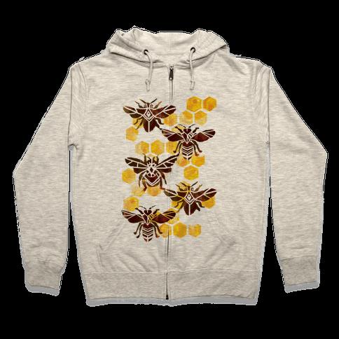 Bee Kingdom Zip Hoodie