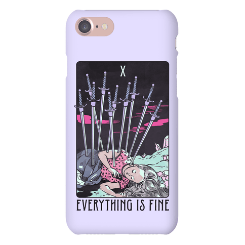 Ten Of Swords (Everything Is Fine) Phone Case