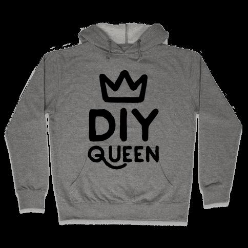 DIY Queen Hooded Sweatshirt