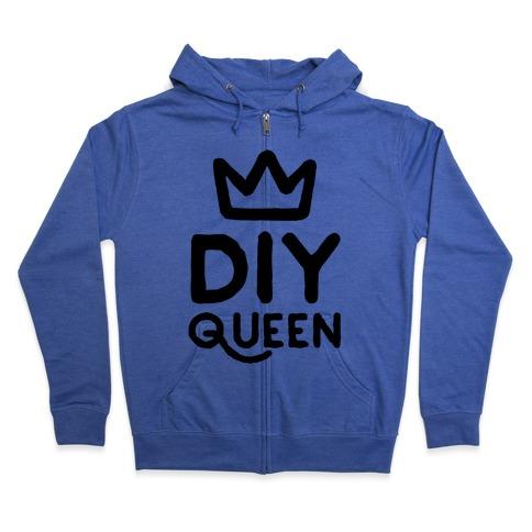 DIY Queen Zip Hoodie